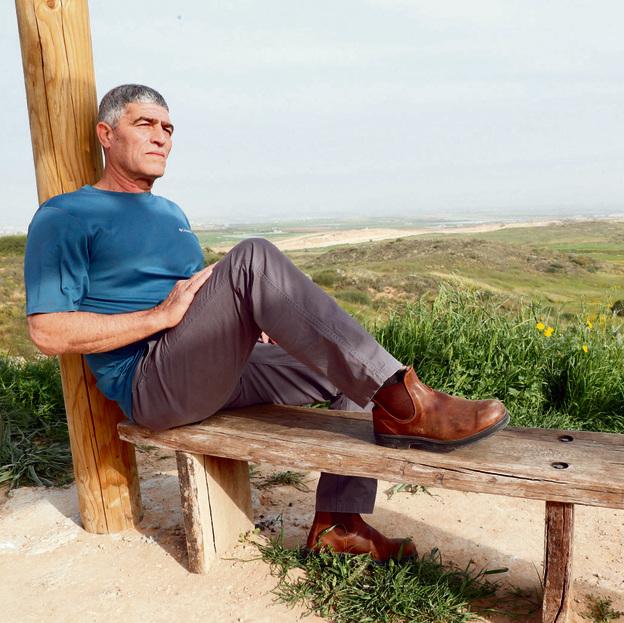 """רוסו, השבוע ליד קיבוץ ניר־עם בדרום. """"אני חי חיים מלאי משמעות"""""""