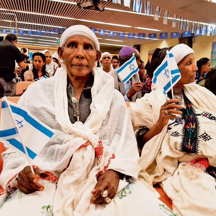 סוף-סוף בארץ. עולי הפלשמורה בישראל, פברואר 2019 צילום: בראל אפרים