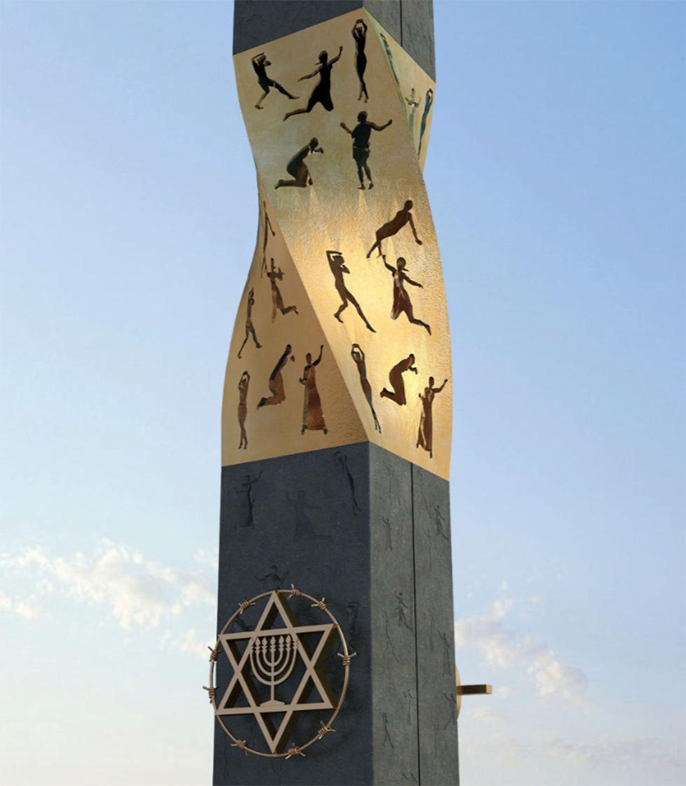 Мемориал блокадникам и защитникам Ленинграда в Иерусалиме. Фото: EAJC