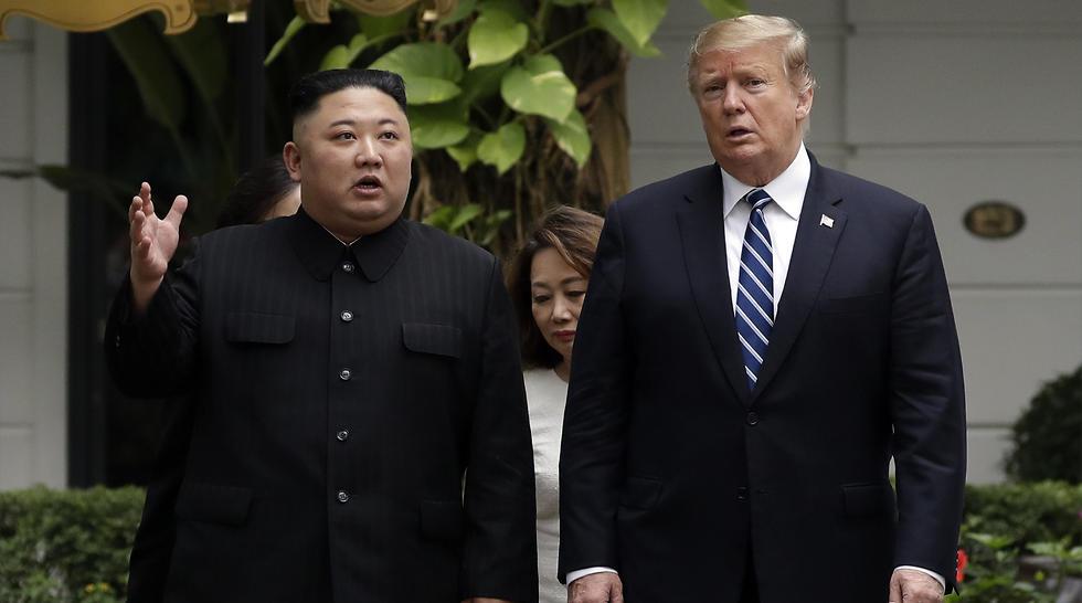 דונלד טראמפ קים ג'ונג און מפגש פסגה וייטנאם ארצות הברית צפון קוריאה (צילום: AP)