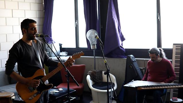 Israeli musician Dudu Tassa rehearses with his band, The Kuwaitis, in Tel Aviv, Israel February 25, 2019.
