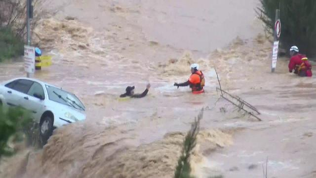 The rescue operation at Arazim Valley (Photo: Kan, the Israeli Public Broadcasting Corporation)