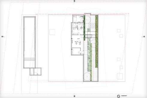 קומת המרתף (תוכנית: פיצו קדם אדריכלים)