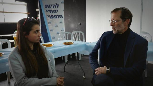 משה פייגלין וענבר טויזר (צילום: אורי דוידוביץ')