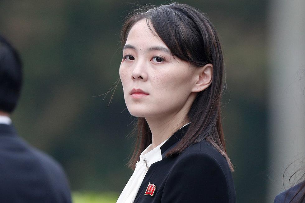 קים יו ג'ונג, אחותו של קים ג'ונג און, בטקס זיכרון לשליט ויאטנם הו צ'י מין בהאנוי (צילום: AP)