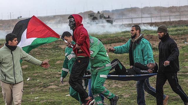 Protests on the Gaza border (Photo: EPA)