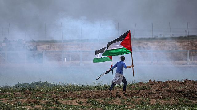 Riots along the Israel-Gaza border (Photo: EPA)