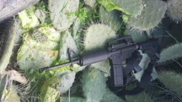A weapon used in a murder in Kafr Qassem last year (Photo: Police Spokesman)