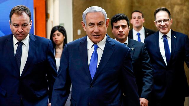בנימין נתניהו ישיבת ממשלה (צילום: AFP)
