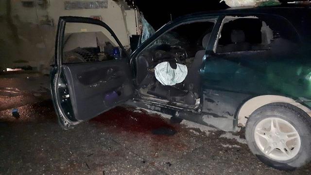 רכב המחבלים אשר ביצעו את פיגוע הדריסה בנעמה בחטמ