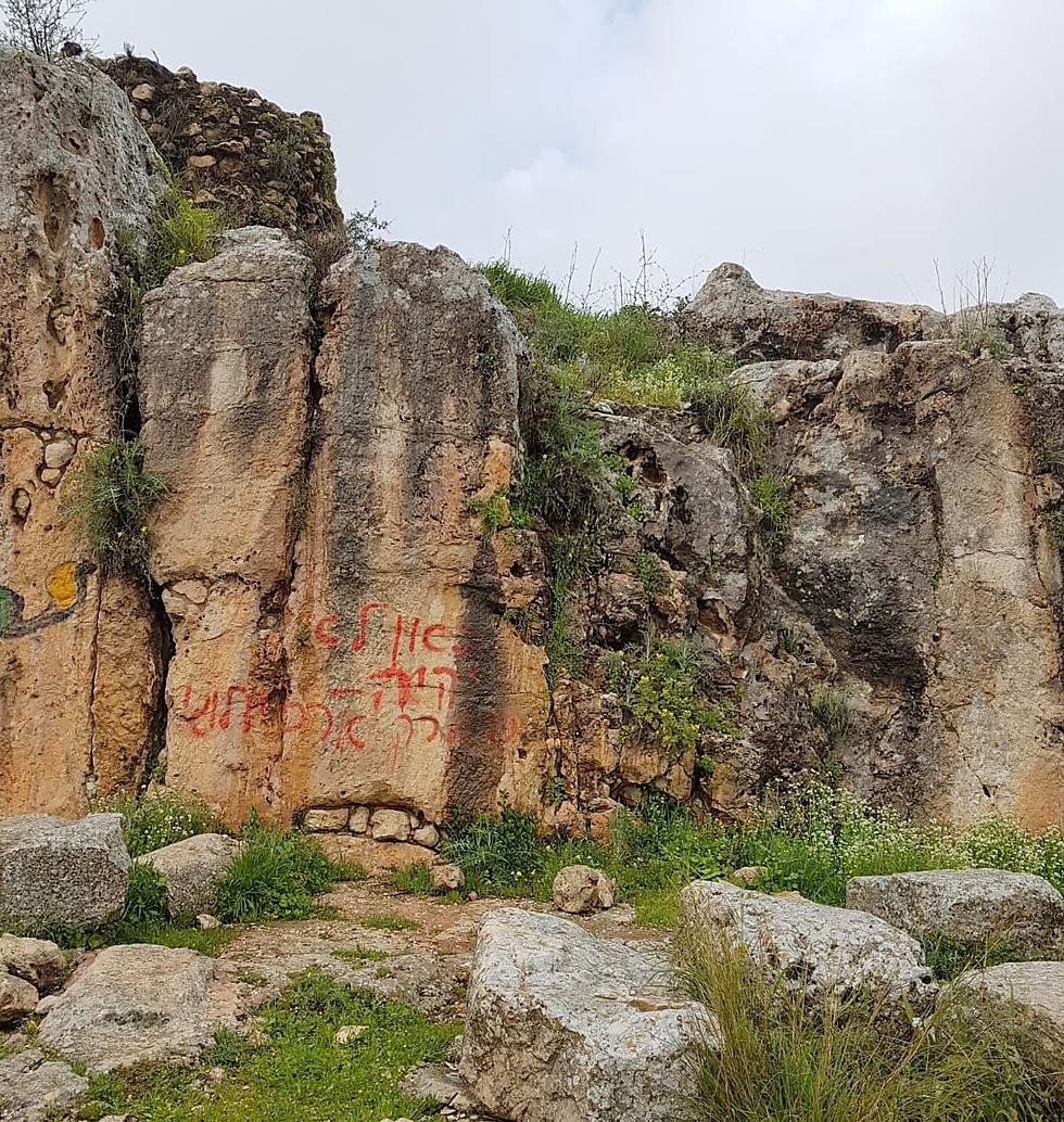 בית כנסת בן 1,800 שנים במירון הושחת (צילום: נדיה עזר, רשות העתיקות)