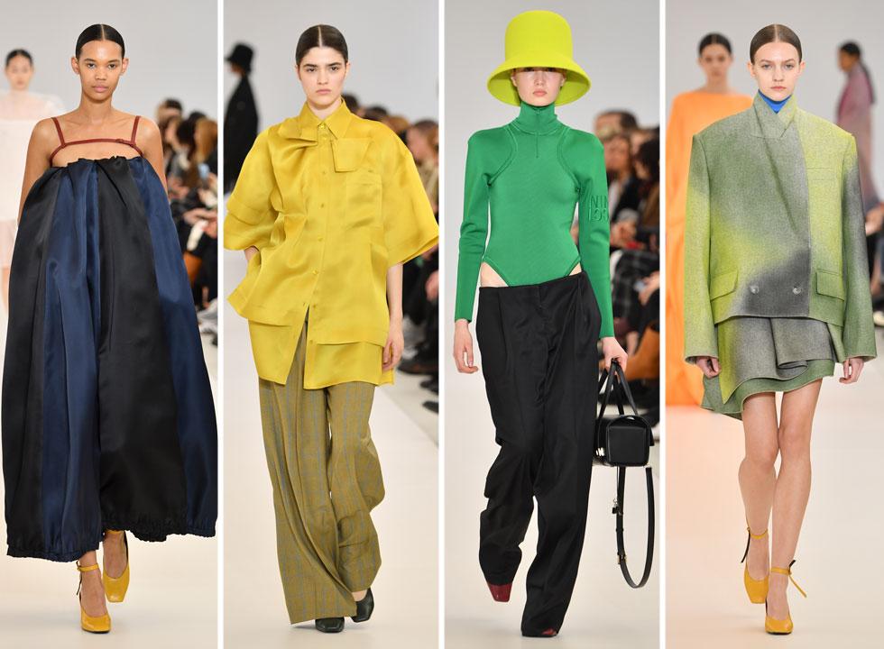 בית האופנה הוותיק והמנומנם נינה ריצ'י, הפקיד את המושכות בידי המעצבים הצעירים ובני זוג בחיים רושמי בוטר וליסי הרברו, בעלי המותג בוטר, שהתגלו בשנה שעברה כפיינליסטים בתחרות LVMH למעצבים צעירים. השניים הציגו חזון צבעוני, צעיר וטרי, שסימן אותם כהפתעת השבוע בפריז (צילום: Pascal Le Segretain/GettyimagesIL)