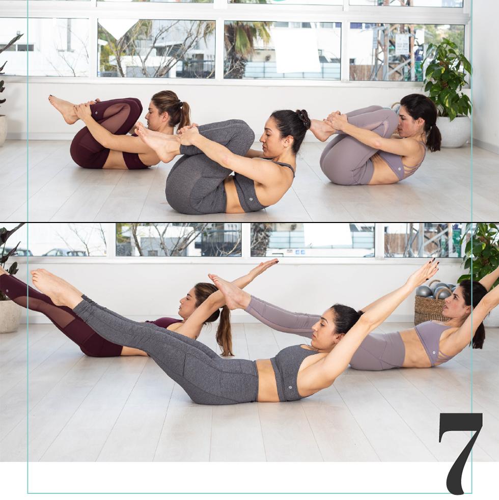 ה-7 באפריל - Double Leg Stretch (מעיין סלע)