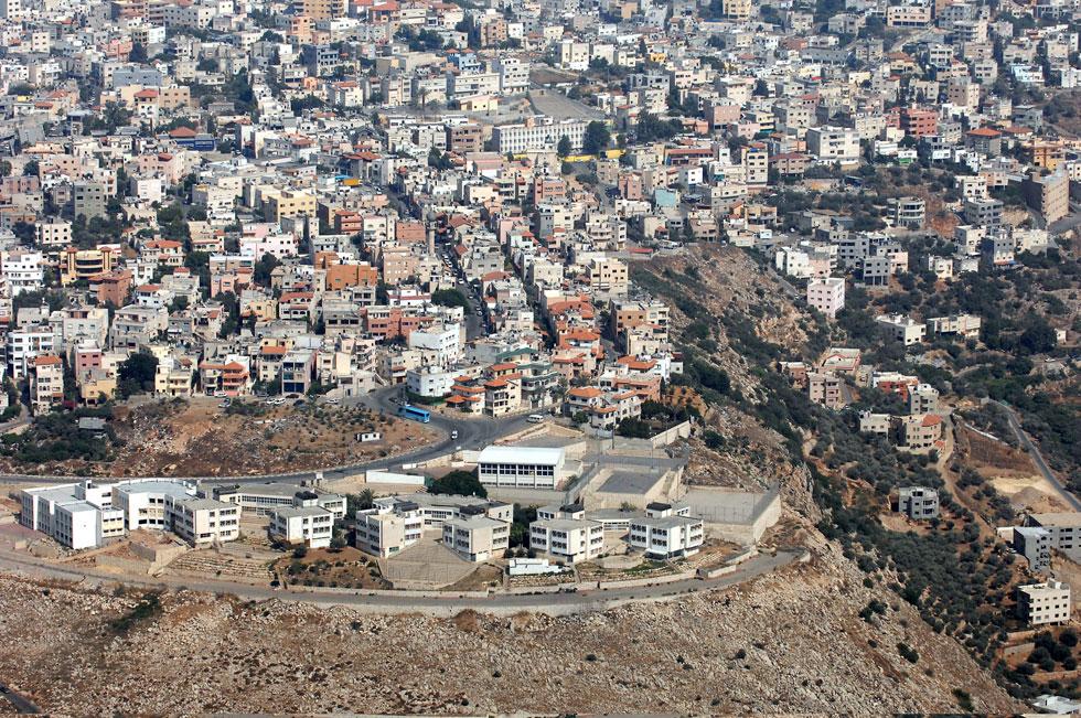 """אום אל-פחם. מחסור בקרקעות לבנייה (צילום: משה מילנר, לע""""מ)"""