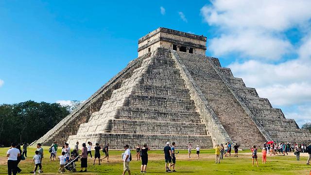 מערת בלמקו צ'יצ'ן איצה מקסיקו ארכיאולוגיה (צילום: AFP)
