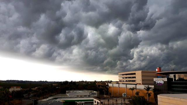 עננים מעל רעננה (צילום: ליבנה כהן )