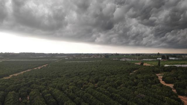 עננים באזור רעננה (צילום: משה שחרור)