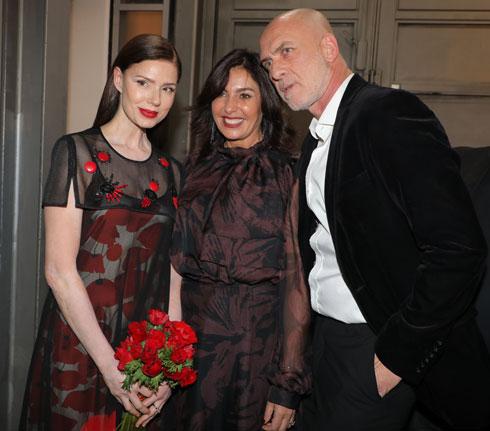 מוטי רייף, מירי רגב ורונית יודקביץ' מאחורי הקלעים (צילום: דנה קופל)