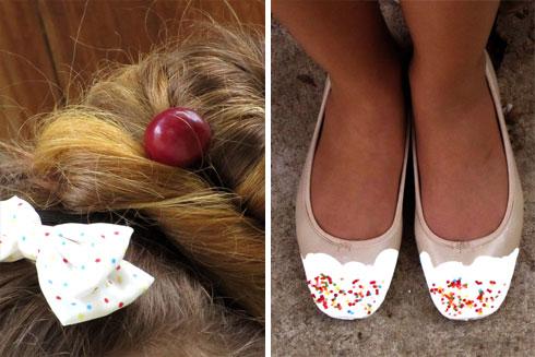 נעליים בציפוי סוכריות ולק (צילום: הדס אבידור גולדין)