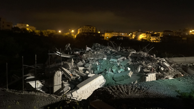 The home in Kober village after it was demolished (Photo: IDF Spokesperson's Unit)