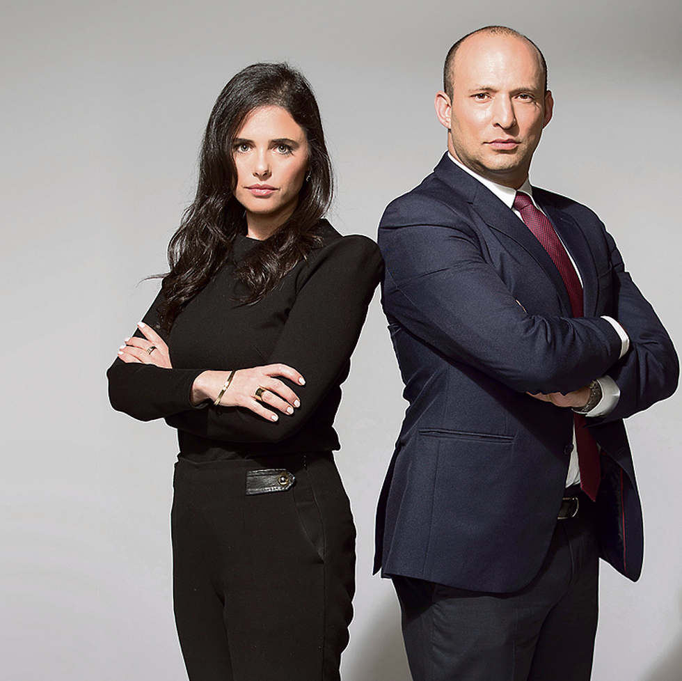 Ayelet Shaked and Naftali Bennett (Photo: Rami Zarnegar)