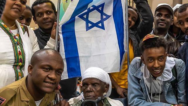 Members of the Falash Mura community arrive in Israel (Photo: Ariela Zaidman)