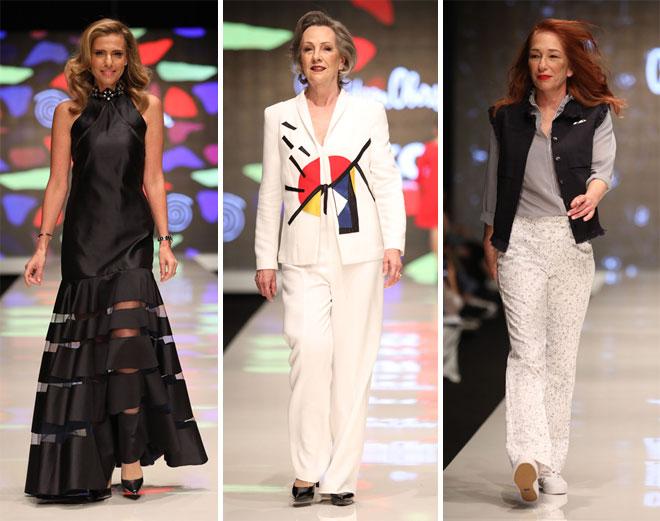 גם הלקוחות עלו על המסלול. התצוגה של גדעון וקארן אוברזון בשבוע האופנה תל אביב, 2018 (צילום: אורית פניני)