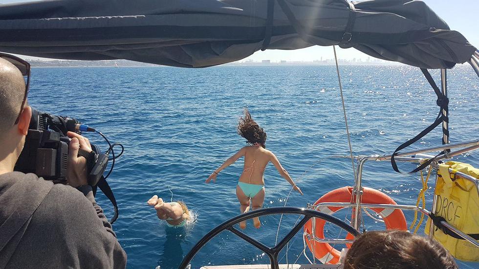 הפלגה עם סקיפריות (צילום: אסף קמר)