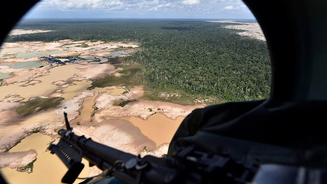 פרו הקימה בסיס צבאי כדי לשמור על העצים ב יערות הגשם אמזונס  (צילום: AP)
