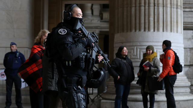 Outside the Brussels court, as it convicts Frenchman of murder in Jewish museum attack (Photo: Reusters)