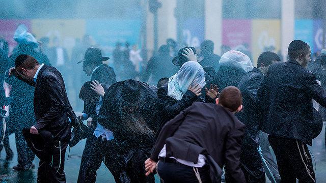 הפגנה נגד גיוס חרדים  (צילום: MCT)