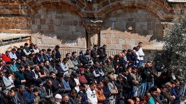 מתפללים מוסלמים (צילום: AFP)