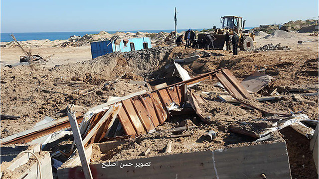 Damage in Gaza after Saturday night's IAF attack