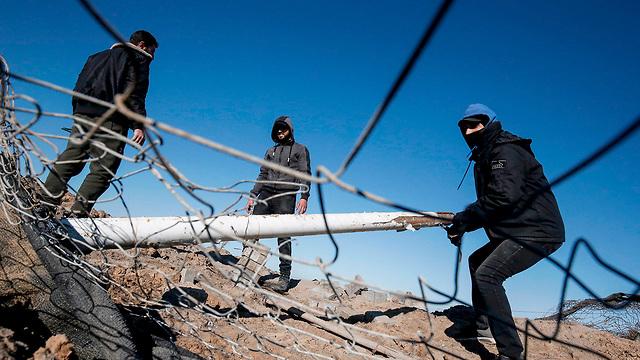 В секторе Газы после атаки ВВС ЦАХАЛа. Фото: AFP (Photo: AFP)