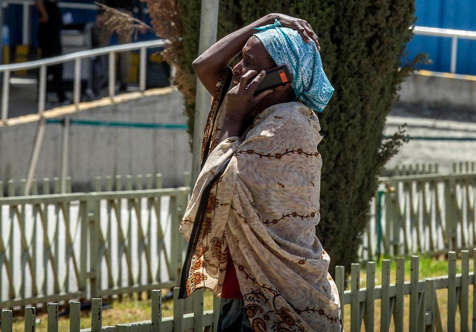 אתיופיה התרסקות מטוס אתיופיין איירליינס קרובי משפחה אדיס אבבה (צילום: AP)