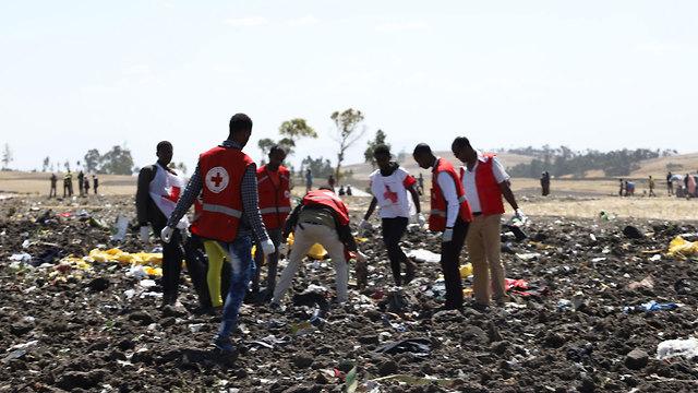 התרסקות מטוס אתיופיה אתיופיין איירליינס Ethiopian Airlines (צילום: AFP)