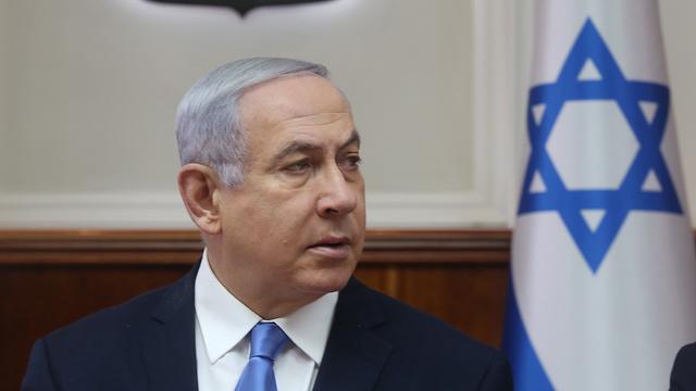Benjamin Netanyahu at the weekly cabinet meeting (Photo: Marc Israel Sellem)