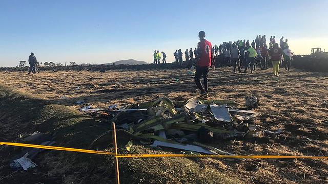 התרסקות מטוס Ethiopian Airlines (צילום: AP)