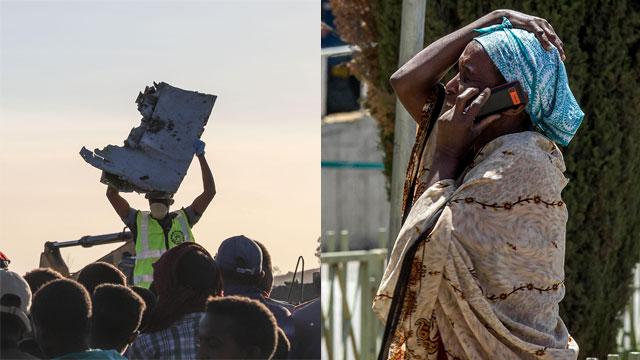 התרסקות מטוס Ethiopian Airlines (צילום: AP, רויטרס)