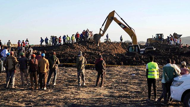 התרסקות מטוס Ethiopian Airlines (צילום: gettyimages)