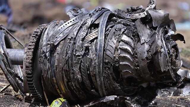 The jet's engine at the crash site (Photo: Reuters)