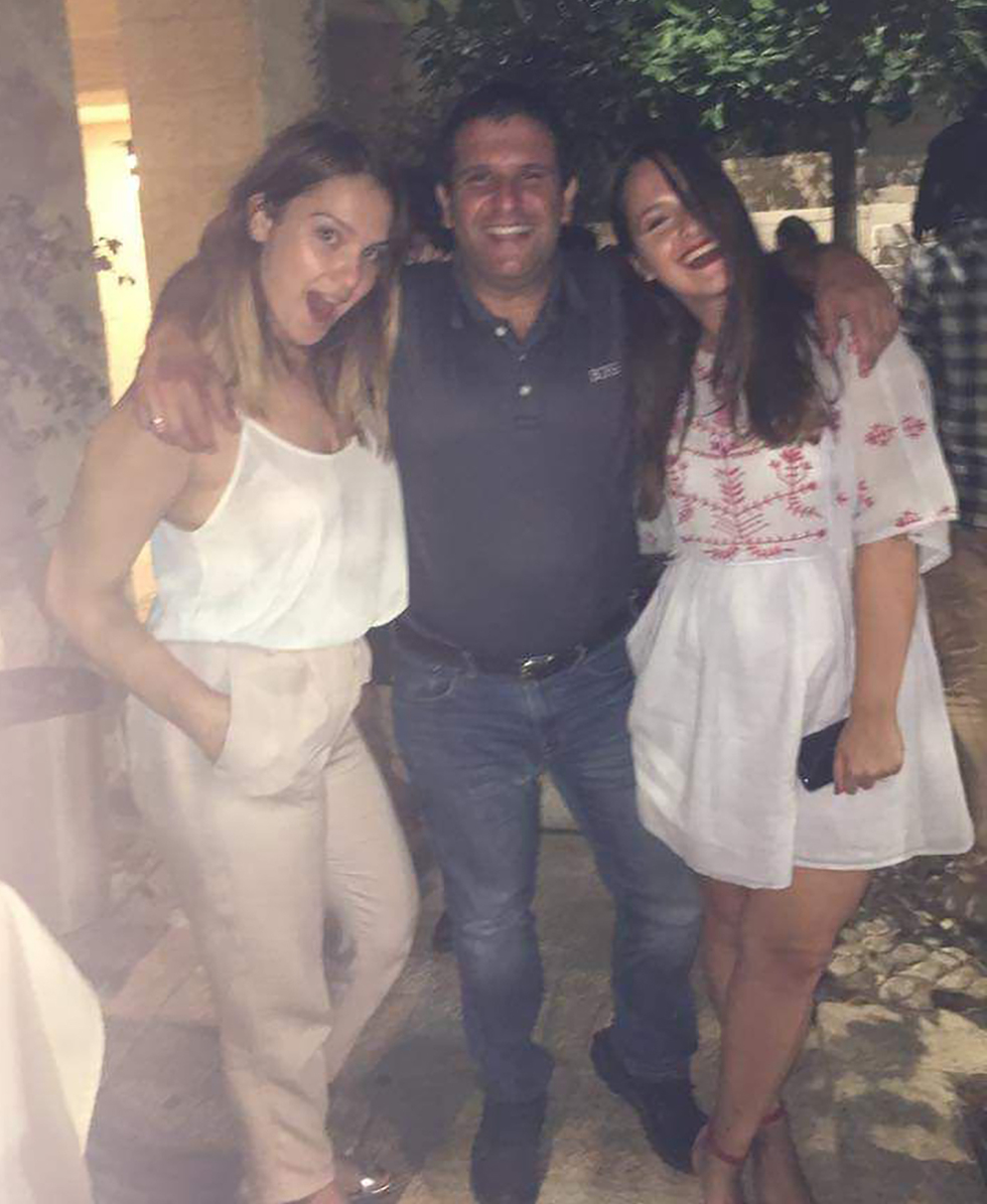 Avraham Matzliah and his two daughters