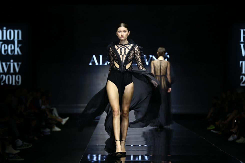 התצוגה של אלון ליבנה בשבוע האופנה בתל אביב (צילום: אלון פרס)