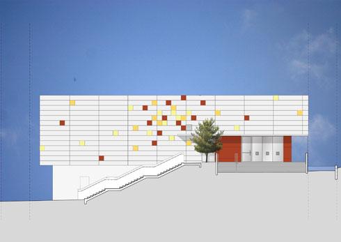 הטופוגרפיה של המגרש הכתיבה את הפרוגרמה (הדמיה: סטיו אדריכלים, אלכס לובימוב)