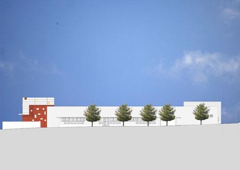 מבנה צנוע ומאופק (הדמיה: סטיו אדריכלים, אלכס לובימוב)
