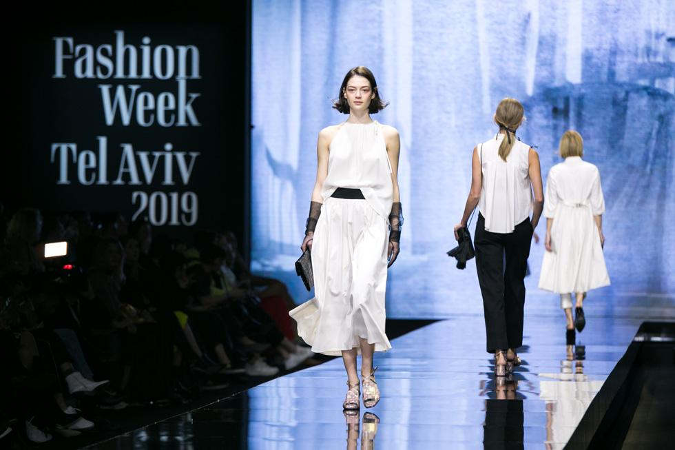 שילובים בין שחור ולבן בתצוגת האופנה של דורין פרנקפורט (צילום: אלון פרס)