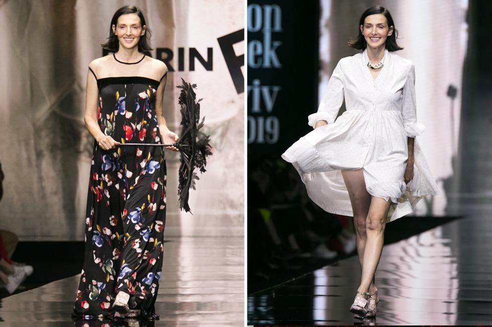 הדוגמנית האיקונית יעל רייך פתחה וסגרה את תצוגת האופנה של דורין פרנקפורט, הראשונה לבוקר השני של שבוע האופנה, לבושה שמלות קיץ אווריריות וחיוכים אופטימיים  (צילום: אלון פרס)