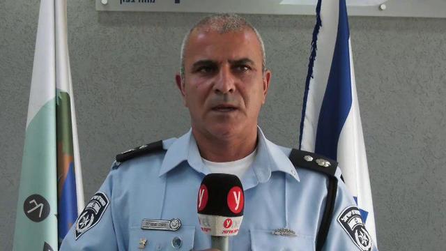 Chief Superintendent Moshe Sheetrit announcing the Telegrass operation (Photo: Shamir Elbaz)