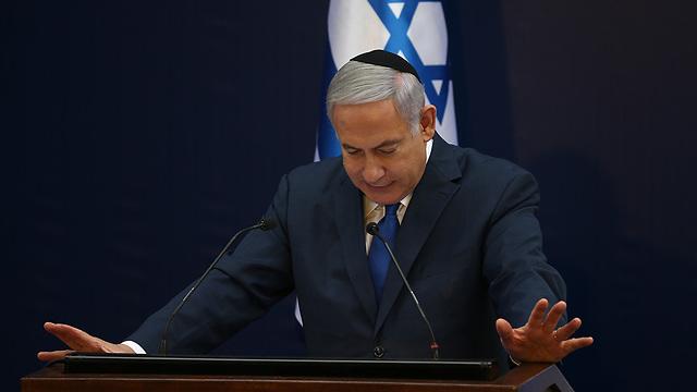 ראש הממשלה בנימין נתניהו בטקס האזכרה הממלכתי לזכרו של לוי אשכול בהר הרצל בירושלים (צילום: אוהד צויגנברג)