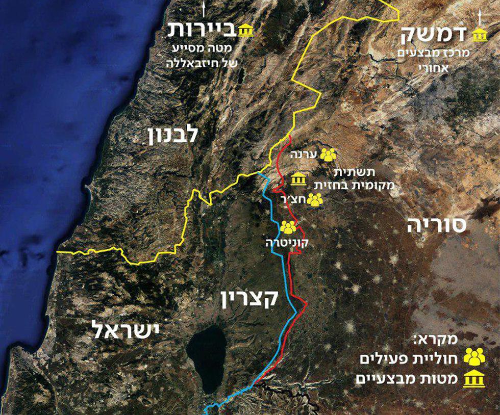 מפה (צילום: דובר צה